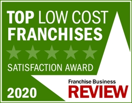 Top Low-Cost Franchise Satisfaction 2020 Award by Franchise Business Review logo