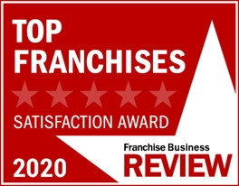 Top Franchises for Second Careers 2020 Satisfaction Award by Franchise Business Review logo