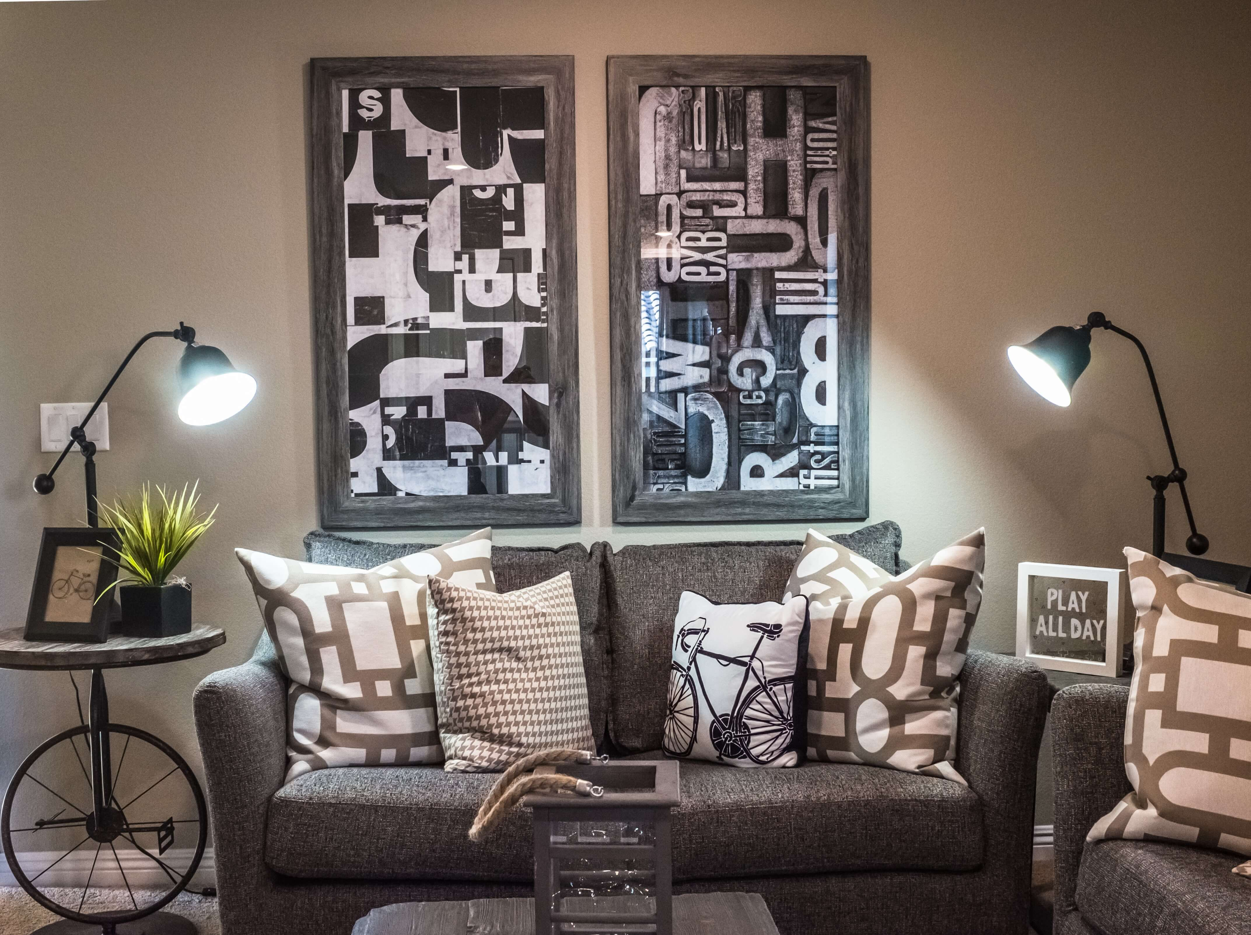 monochromatic living room