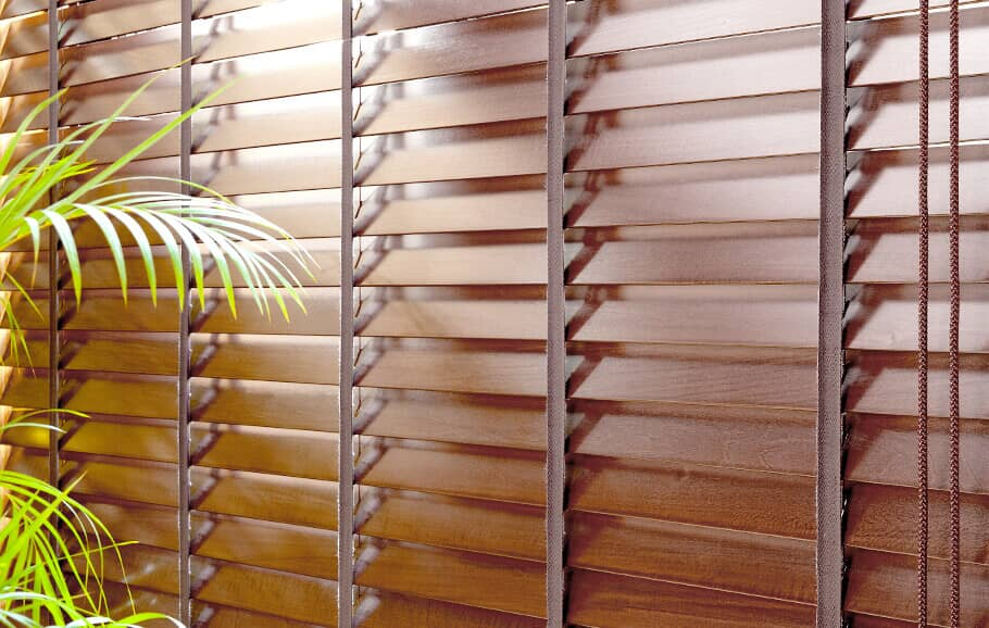 Custom wood blinds installation in North Tampa from Bloomin' Blinds